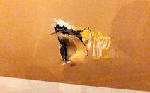 Xe thang đâm lủng thân máy bay Boeing 787 của Vietnam Airlines