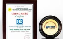 Tập đoàn DCB đạt danh hiệu 'Top 50 nhãn hiệu nổi tiếng Việt Nam'