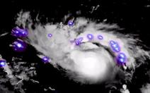 Hình ảnh 'pháo hoa' thể hiện sức mạnh của siêu bão Dorian sắp đổ bộ vào Mỹ