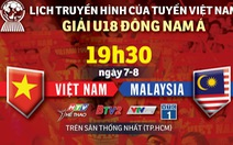 U18 Đông Nam Á 2019: Lịch trực tiếp trận ra quân của U18 Việt Nam
