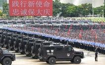 Cảnh sát Trung Quốc diễn tập 'dằn mặt' người biểu tình ở Hong Kong?