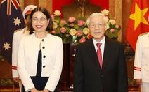 Tổng bí thư, Chủ tịch nước tiếp các đại sứ trình quốc thư Hà Nội