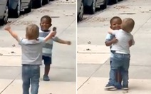 Hai em bé ôm nhau khiến dân mạng 'tan chảy', rủ nhau họp lớp
