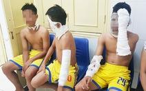 Chùm bóng bay phát nổ, ba cầu thủ U14 SLNA nhập viện