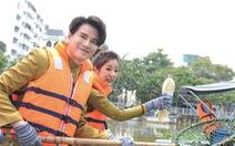 Nhiều nghệ sĩ vớt rác trên kênh Nhiêu Lộc