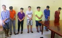 Bắt 8 thanh niên cầm mã tấu đập phá xe dân phòng