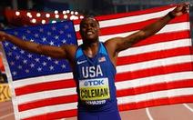Kế nhiệm Usain Bolt, Christian Coleman trở thành người chạy nhanh nhất thế giới