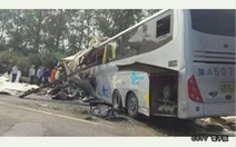 36 người chết do xe khách bị bể bánh trước