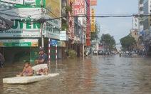 Ngập lịch sử, cả Cần Thơ và Vĩnh Long lênh láng nước trên phố