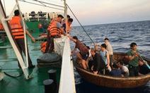 41 ngư dân chìm tàu trên biển đã vào đến bờ an toàn