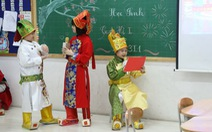 Học trò tiểu học tổ chức họp các bố mẹ