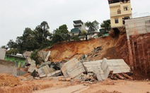 Quảng Ninh di dời khẩn 16 hộ dân do sạt bờ kè nhà dân
