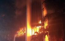 Cháy lớn tại tòa nhà Dầu khí Thanh Hóa, 1 người chết, 11 người ngạt khí