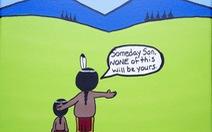 Những biếm họa thâm thúy của tác giả '2 mẹ con đi ra đi vào'
