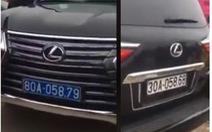 Phạt 5 triệu, tước bằng lái 2 tháng tài xế Lexus mang 2 biển kiểm soát
