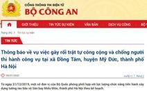 Bộ Công an thông tin về tình hình ở xã Đồng Tâm