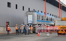 Tàu metro 1 lăn bánh ở depot, tháng 4-2021 sẽ chạy thử từ ngã tư Bình Thái về Long Bình