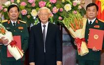 Thăng quân hàm thượng tướng cho 2 sĩ quan cao cấp quân đội