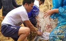 Học trò sơ tán, lội 40km bùn đất đi 'học gửi'
