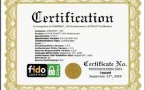Hệ điều hành VOS trên điện thoại Vsmart đạt chứng chỉ xác thực trực tuyến FIDO2