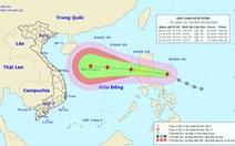 Áp thấp nhiệt đới đã mạnh thành bão, vào Biển Đông sáng mai