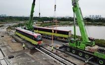 Đoàn tàu metro Nhổn - Ga Hà Nội đã về tới nơi tập kết