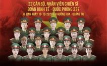 Lễ viếng và truy điệu 22 chiến sĩ: Quảng Trị sáng nay rất lạnh