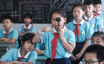 Thành phố ở Trung Quốc qui định thị lực, cân nặng là tiêu chuẩn để vào trung học