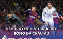 Lịch trực tiếp bóng đá châu Âu 24-10: Siêu kinh điển Barca - Real Madrid