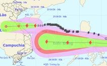 NÓNG: Tâm bão cách đất liền Hà Tĩnh đến Quảng Trị 330km, sóng biển cao 2-4m