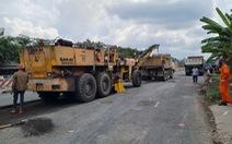 Sửa chữa nhiều tuyến quốc lộ ở miền Tây bị hư hỏng, ngập nước