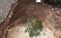 Sụt đất thành hố sâu đến 5m trong vườn nhà ở Quảng Bình