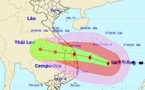 13h ngày 27-10, bão số 9 cách Đà Nẵng - Phú Yên 438km, giật cấp 17