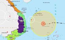 15h ngày 27-10, bão số 9 cách Phú Yên 390 km, giật cấp 17