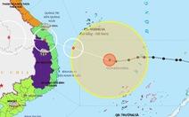 18h ngày 27-10, bão số 9 cách Phú Yên 330 km, giật cấp 17