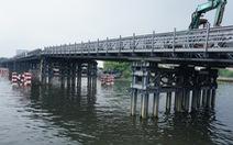 Cầu sắt tạm An Phú Đông lùi ngày hoàn thành tới tháng 12-2020