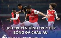 Lịch trực tiếp bóng đá châu Âu 1-11: Man United - Arsenal