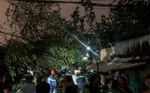 Cây đổ đè sập nhà, người dân thoát chết trong gang tấc