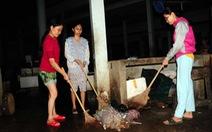 Mẹ, con và tiếng chổi tre xao xác chợ quê