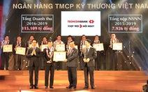 Techcombank vào top 30 doanh nghiệp nộp thuế xuất sắc toàn quốc
