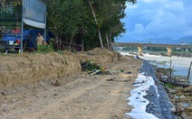 Một bờ sông, hai dự án kè sông chồng lên nhau, nửa chừng bỏ dở