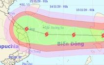 Tâm bão Vamco mạnh cấp 12, gió giật cấp 15 khi tiến gần Hoàng Sa Việt Nam