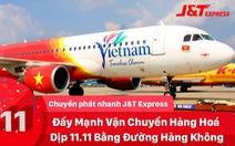 J&T Express thuê chuyên cơ riêng vận chuyển hàng hóa 'siêu tốc' trong bão sale 11-11