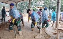 Sau gần một tháng bị đất đá vùi lấp, trường Hướng Việt đón trò trở lại