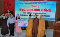 Tăng ni, Phật tử quyên góp hơn 100 tỉ đồng gửi giúp đồng bào miền Trung