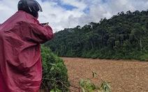 Hàng ngàn mét khối gỗ trôi lấp kín mặt nước hồ thủy điện Đăk Mi 4 sau lũ