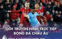 Lịch trực tiếp bóng đá châu Âu 8-11: Tâm điểm Man City - Liverpool
