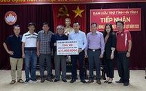 435 triệu đồng hỗ trợ đồng bào vùng lũ Hà Tĩnh