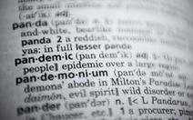 Từ điển Merriam-Webster chọn 'đại dịch' là từ của năm 2020