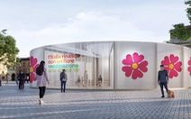 Vì sao Ý trang trí rạp tiêm vắc xin COVID-19 bằng hình hoa anh thảo?